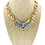 Thumbnail: Fashion Crystal Necklace Earrings Set Gold AB 140469