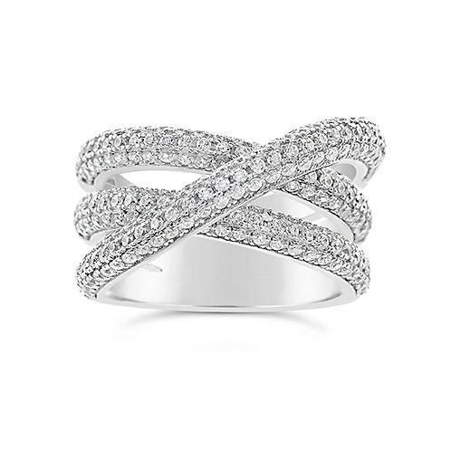 Sterling Silver Cubic Zirconia Ring 129820