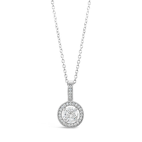 Sterling Silver Micro Pave Cubic Zirconia Necklace