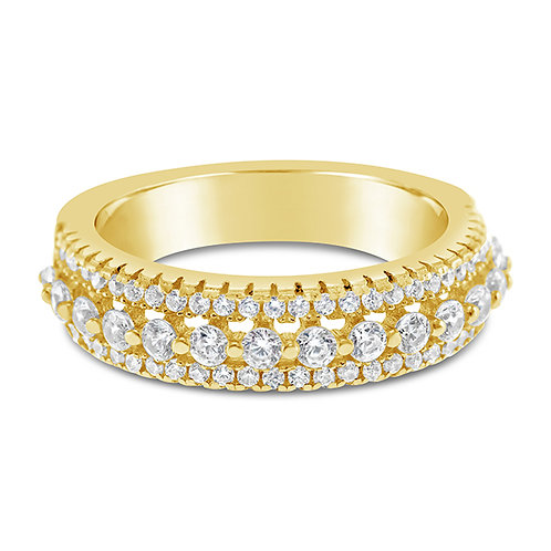 Gold Plated Cubic Zirconia Ring 131908