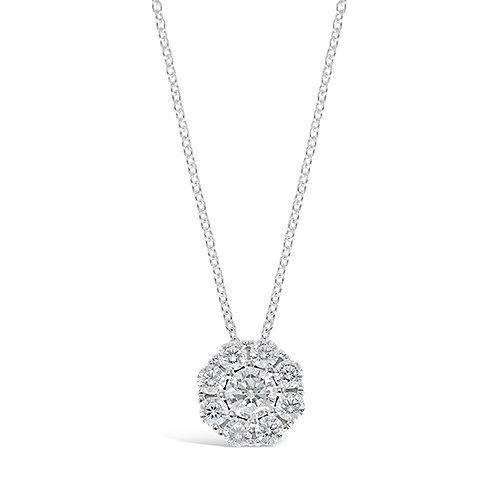 Bitter Sweet Sterling Silver Cubic Zirconia Necklace 131359