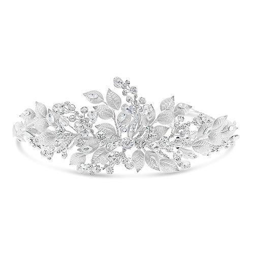 Bridal Silver Leaf Headband 131862