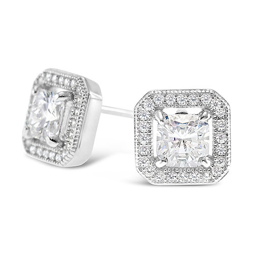 Bitter Sweet Sterling Silver Micro Pave Cubic Zirconia Earrings 131921