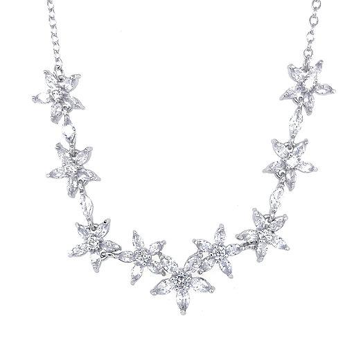 Fashion Cubic Zirconia Necklace & Earrings Set 154322