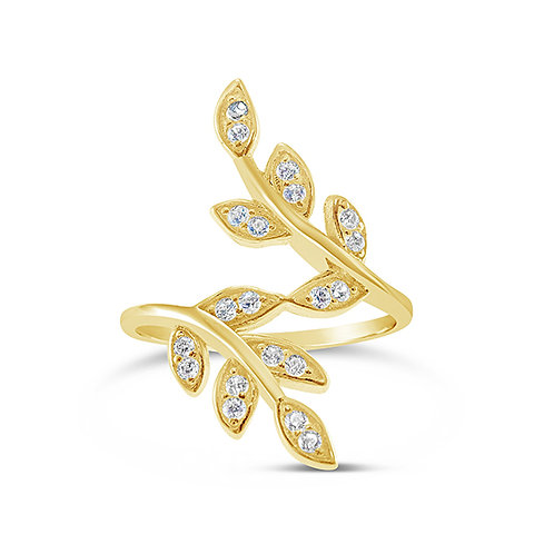 Gold Plated Cubic Zirconia Ring 131910