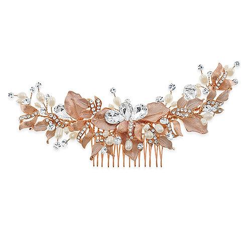 Bridal Rose Gold Hair Comb 131402