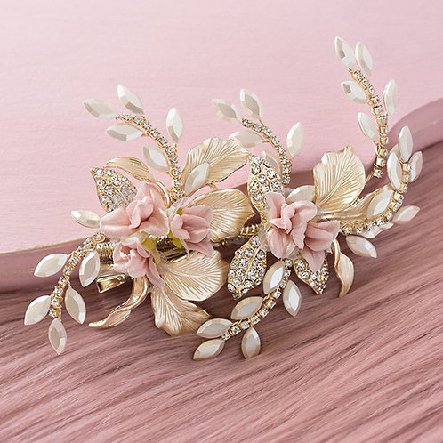Bridal gold Hair clip
