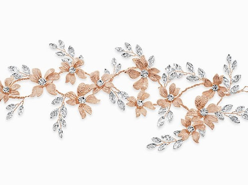 Bridal Rose Gold Flower Head Band 142030