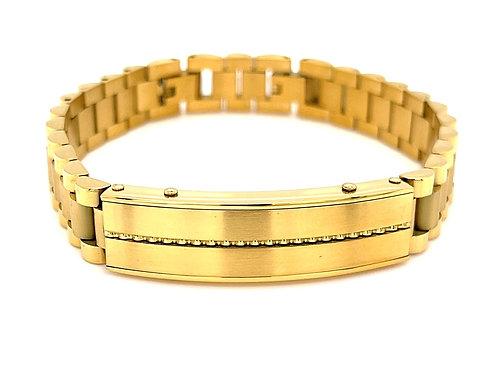 Men's Gold Stainless Steel ID Bracelet 136328