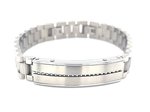 Men's Silver Stainless Steel ID Bracelet 136327
