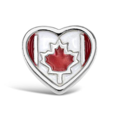 Circle of Love Heart Canada Charm