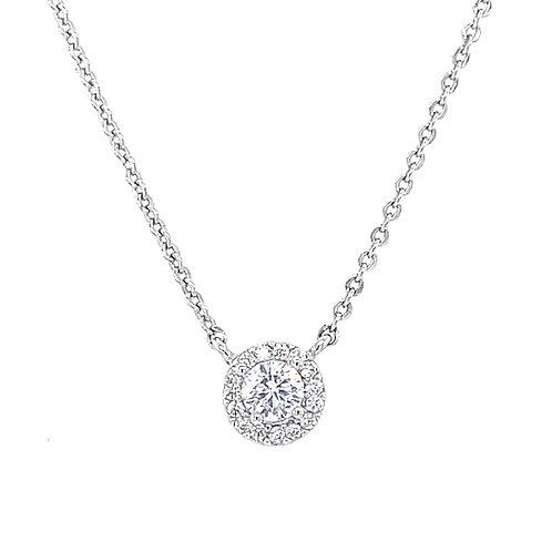 Fashion Silver Cubic Zirconia Necklace 134491