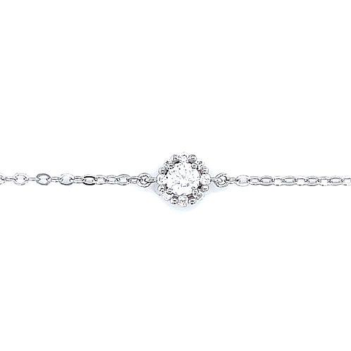 Sterling Silver Cubic Zirconia Round Bracelet 132882