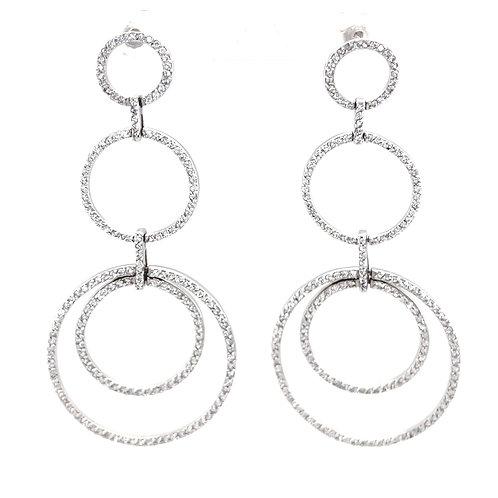 Sterling Silver Cubic Zirconia Circle Earrings 150000