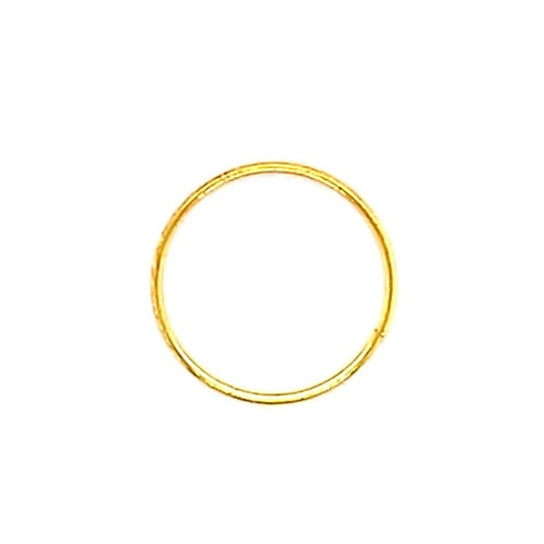 Gold Plated Sterling Silver Plain 10mm Nose Hoop 135000