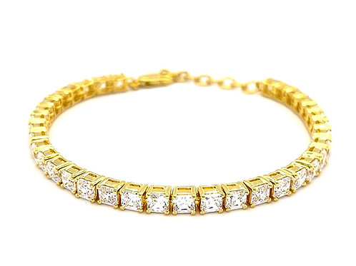 Gold Plated Sterling Silver Cubic Zirconia Bracelet 139220