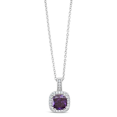 Sterling Silver Cubic Zirconia Necklace 132087-10125194