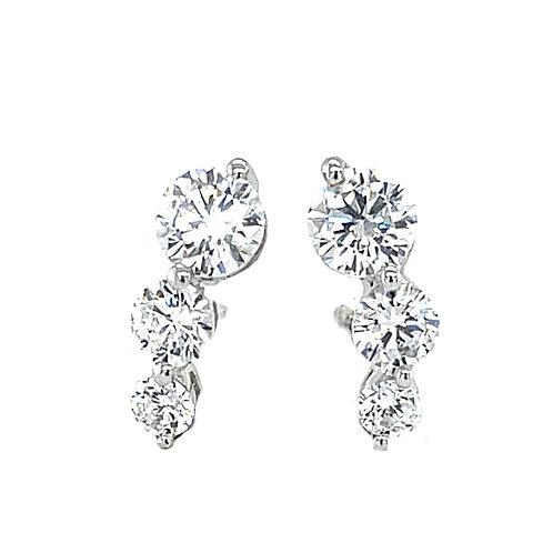 Sterling Silver Cubic Zirconia Stud Earrings 117985