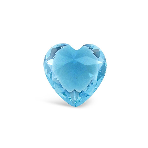 Circle of Love March Birthstones Heart Charm