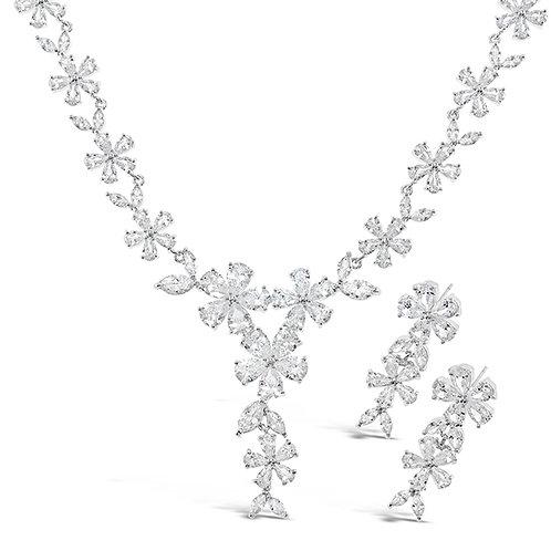Cubic Zirconia Necklace & Earrings Set