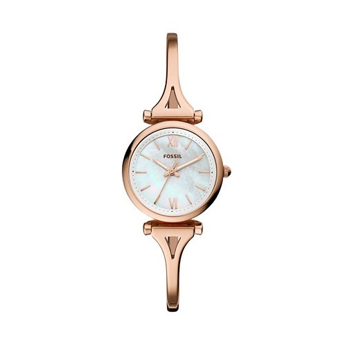 Fossil Carlie Mini Stainless Steel Rose Gold Tone