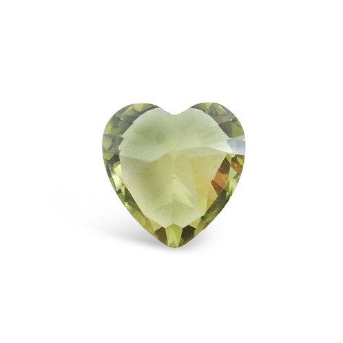 Circle of Love August Birthstones Heart Charm