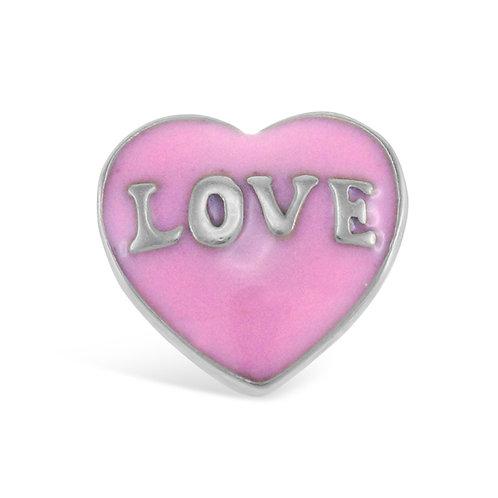 Circle of Love Pink Love Charm