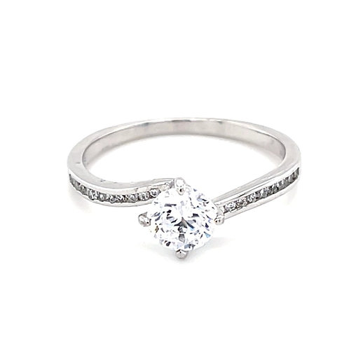 Sterling Silver Cubic Zirconia Ring 127175
