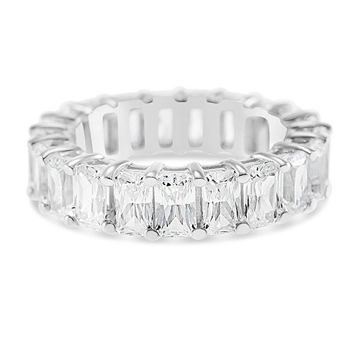 Bitter Sweet Sterling Silver Cubic Zirconia Ring 131757