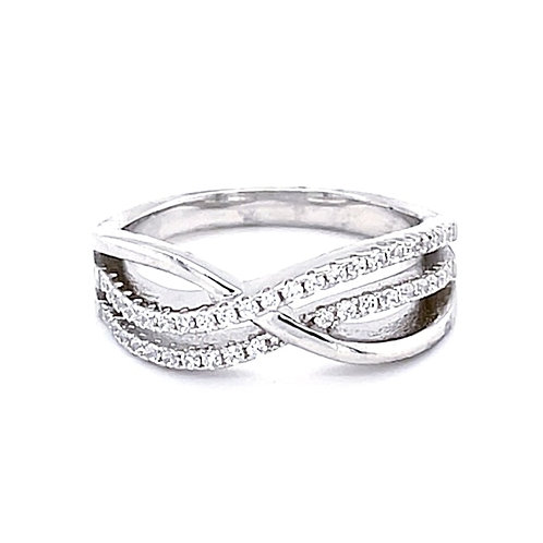 Sterling Silver Cubic Zirconia Ring 129817