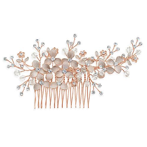 Bridal Rose Gold Hair Comb 131399-10124039