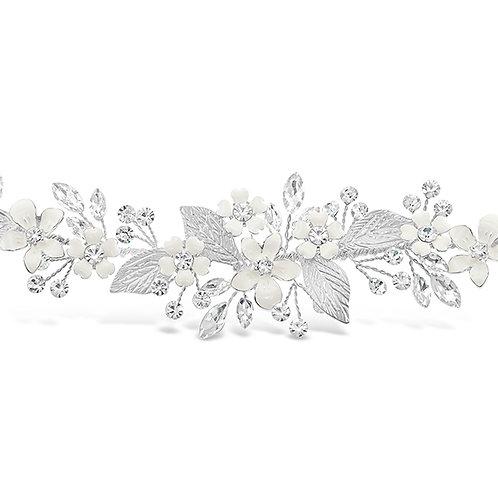 Bridal Silver Flower Bracelet 131858