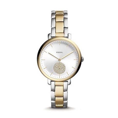 Fossil Jacqueline Three-Hand Two-Tone Stainless Steel Watch 132914