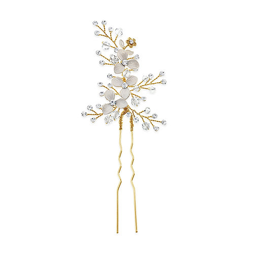 Bridal Gold Flower Hair Stick 131398-10124036