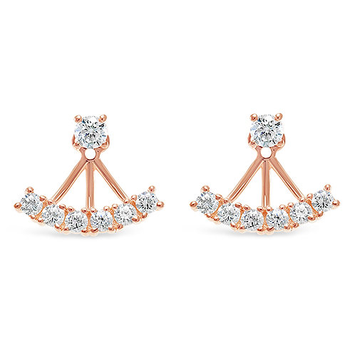 Bitter Sweet Rose Gold Plated Sterling Silver Cubic Zirconia Earrings 127367
