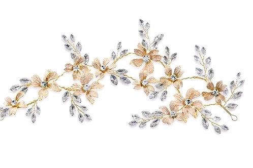 Bridal Gold Flower Head Band 142029