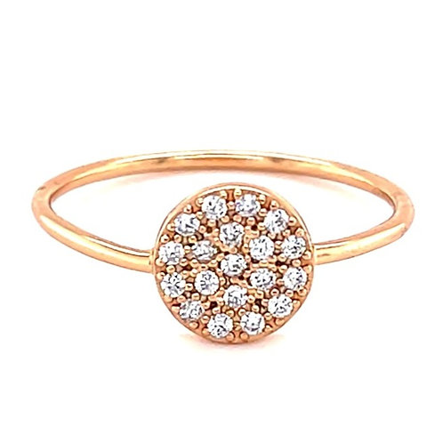 Rose Gold Plated Sterling Silver Cubic Zirconia Ring 131356