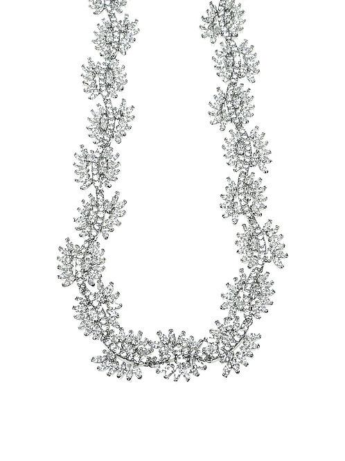 Fashion Silver Cubic Zirconia Necklace126547