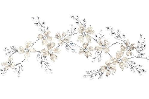Bridal Silver Flower HeadBand 142028