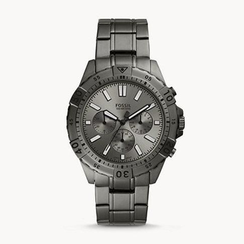 Fossil Garrett Chronograph Smoke Stainless-Steel Watch