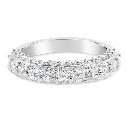 Bitter Sweet Sterling Silver Cubic Zirconia Ring 131754