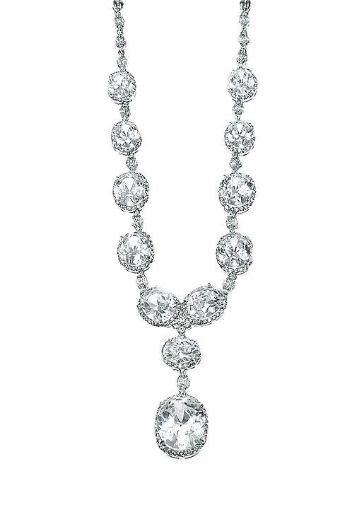 Fashion Silver Cubic Zirconia Necklace 117163
