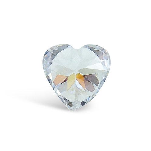Circle of Love April Birthstones Heart Charm
