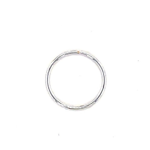 Sterling Silver Plain 8 mm Nose Hoop 134989