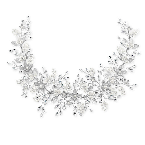Bridal Silver Flower Hair Vine 131851-10124857