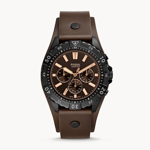 Fossil Garrett Chronograph Brown Leather Watch
