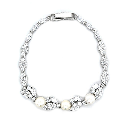 Fashion Cubic Zirconia Pearl Bracelet 154333