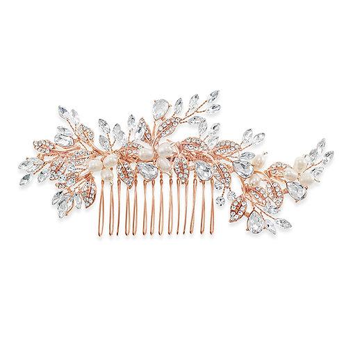 Bridal Rose Gold Hair Comb 131406-10124045