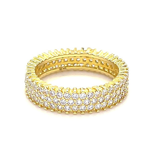 Gold Plated Sterling Silver Cubic Zirconia Ring 131906