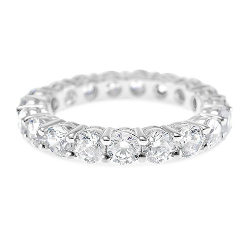 Bitter Sweet Sterling Silver Cubic Zirconia Ring 125614